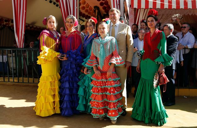 La familia real holandesa en Sevilla, en
