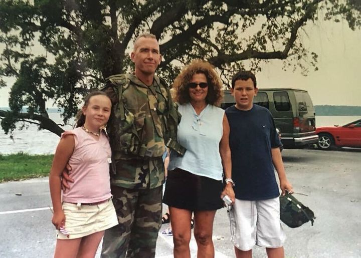 The Wersel family in July 2003 when Lt. Col. Richard Wersel returned from his first tour in Iraq where he served on Task Force Tarawa as part of Operation Iraqi Freedom.