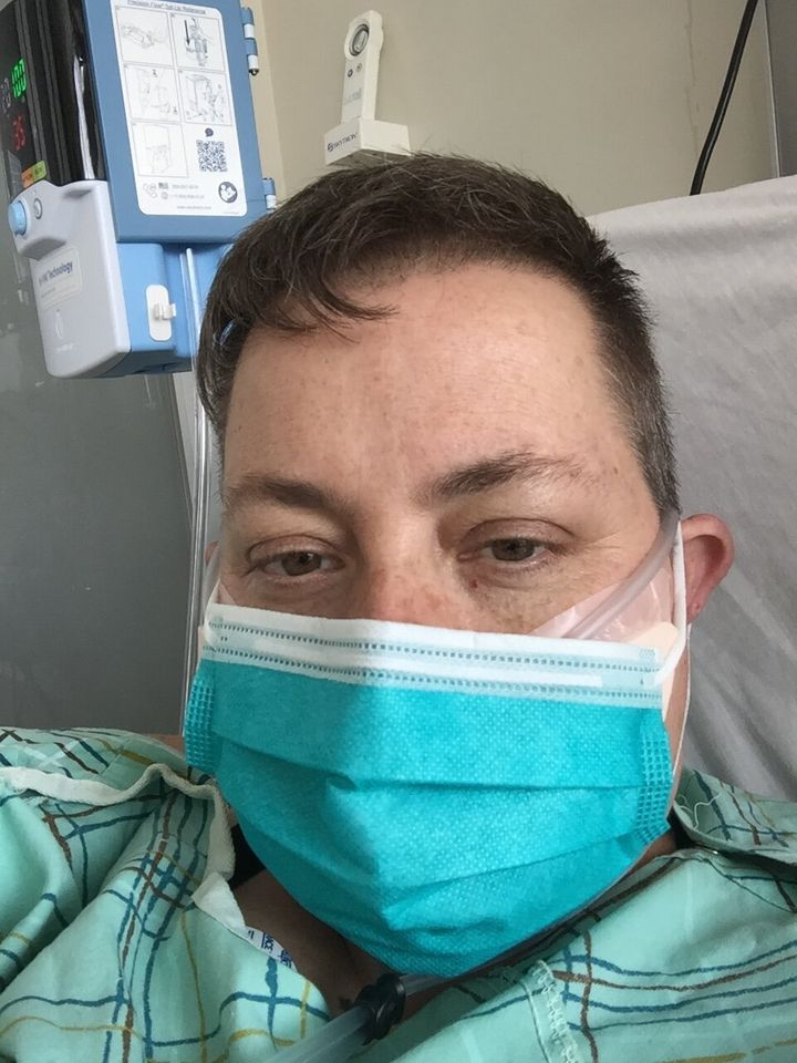 """Some patients find this a little windy,"" explained the respiratory therapist about the high flow nasal cannula, ""or maybe like you have a garden hose up your nose."""