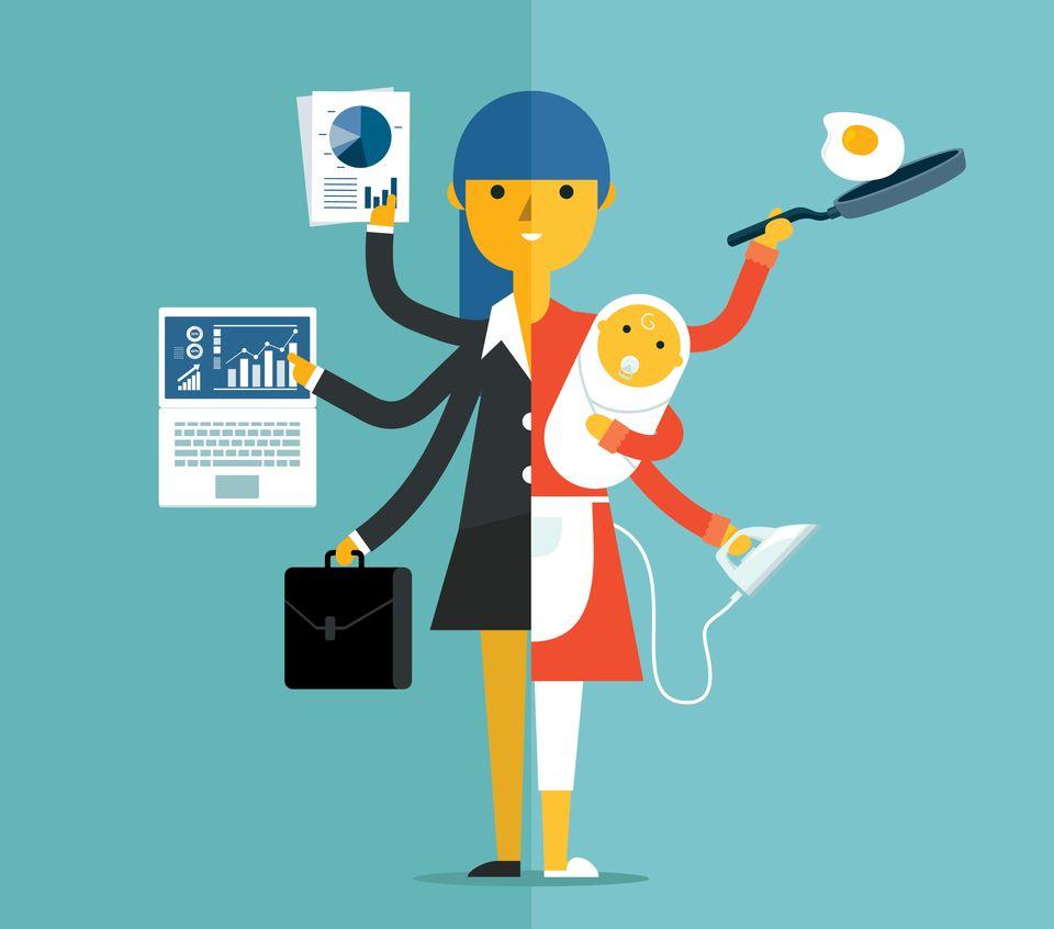 Do total das mulheres, 92,2% realizam afazeres domésticos, entre eles, limpar, passar, cozinhar,...