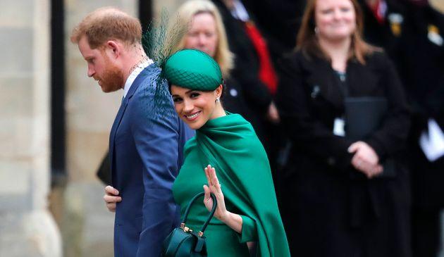 Harry et Meghan Markle, ici à Westminster le 9 mars 2020 doivent abandonner leur compte officiel...