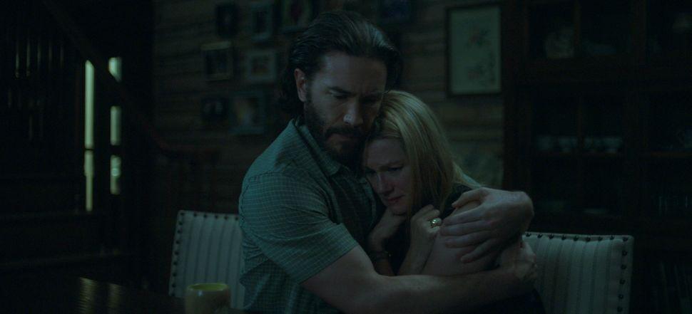 "Tom Pelphrey and Laura Linney in ""Ozark."""