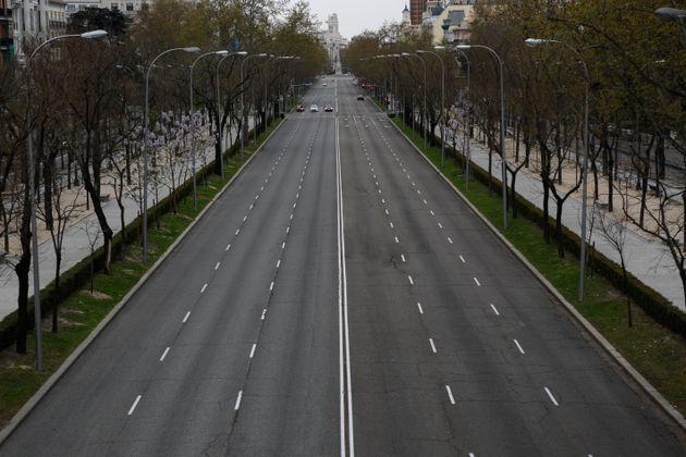 Paseo de la Castellana (Madrid) durante el periodo de