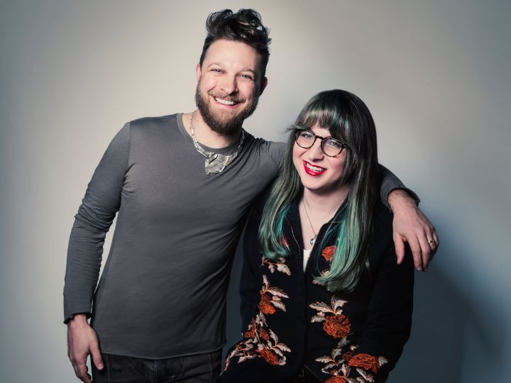 Singer-songwriter Benjamin Scheuer (left) and screenwriter Samantha Williams.