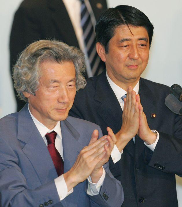 고이즈미 준이치로 전 일본 총리와 아베 신조 현 일본