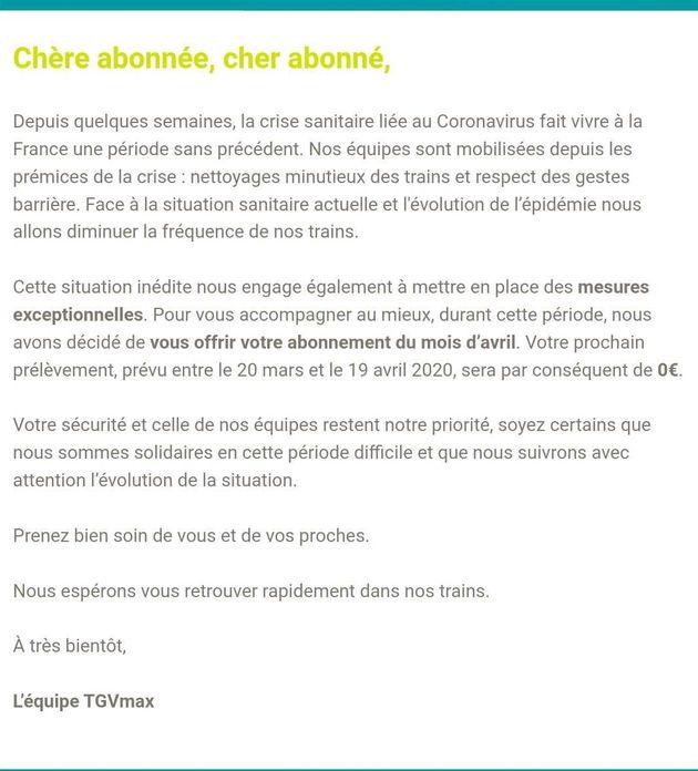 Avec le confinement, la SNCF rembourse ses abonnements TGVMax du mois