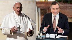 La testimonianza morale di Papa Francesco e la spinta di Draghi per un piano Ue di