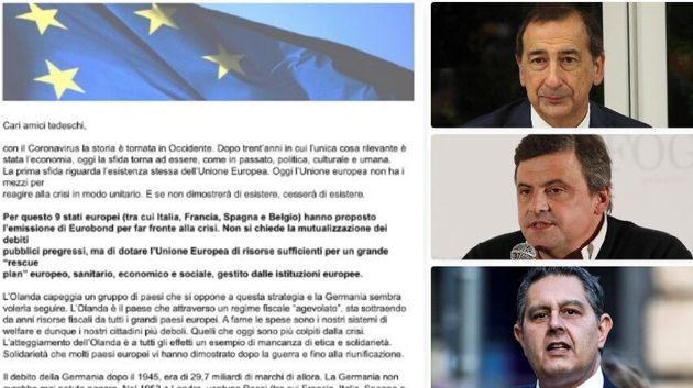 """Lettera ai tedeschi: """"Sugli eurobond comportatevi da grande"""