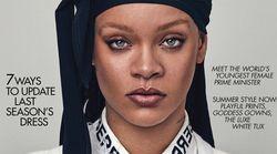 Ce foulard que porte Rihanna en couverture de