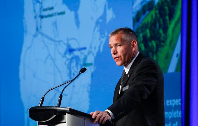 Russ Girling, president and CEO of TransCanada Corporation, today known as TC Energy, addresses the company's...