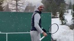 Ce n'est pas la neige qui va empêcher Federer de s'entraîner chez