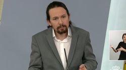 El discurso íntegro de Pablo Iglesias con las medidas sociales por el