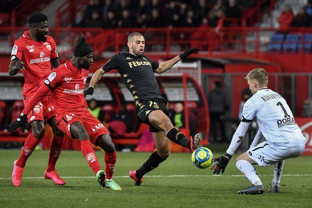 Lors du match de Ligue 1 Dijon-Monaco le 22 février