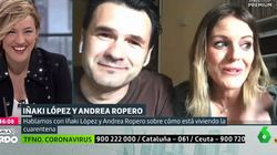 El inevitable contratiempo de Iñaki López y Andrea Ropero cuando estaban en directo desde su