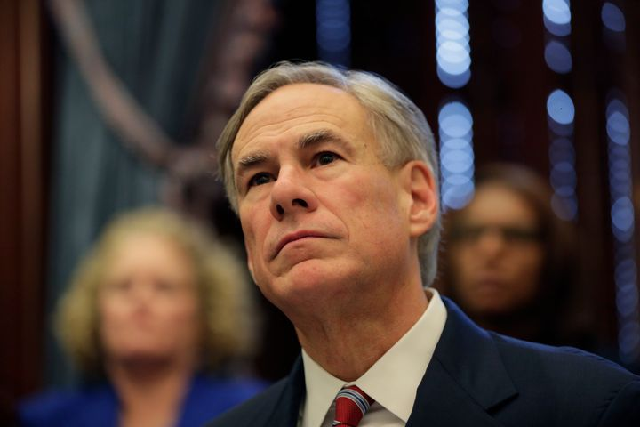 Texas Gov. Greg Abbott gives an update on the coronavirus on March 13, 2020, in Austin, Texas. Abbott declared a state of dis