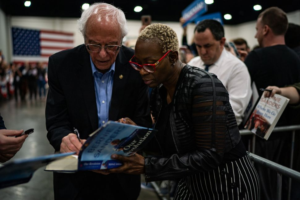 Sanders campaign co-chair Nina Turner, right, played a key role in South Carolina operations. Some of Sanders' local endorser
