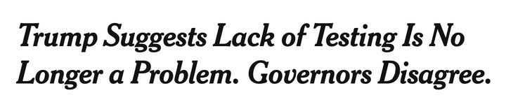 The headline for the New York Times story that sparked outrage.