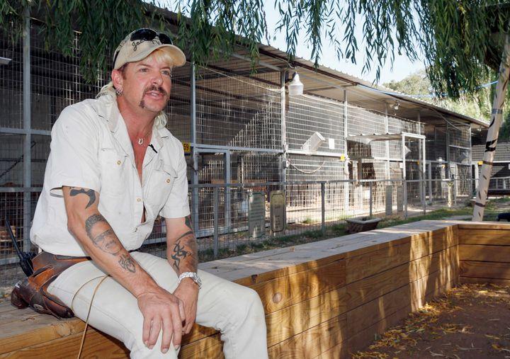 Joe Exotic at his zoo in Wynnewood, Oklahoma, in 2013.