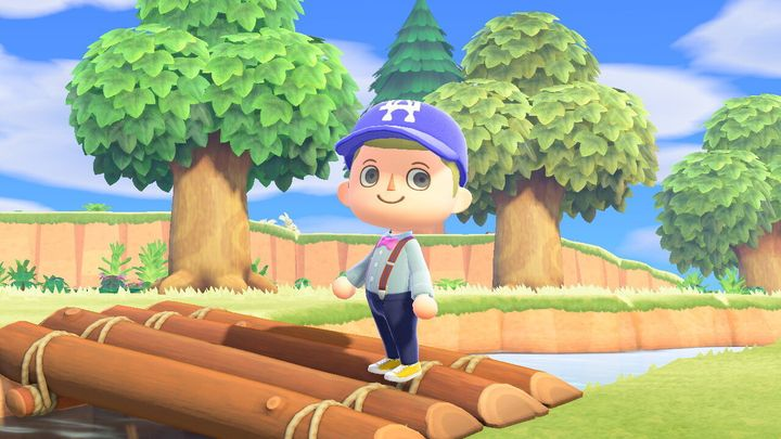 "My character in the video game ""Animal Crossing: New Horizons."""