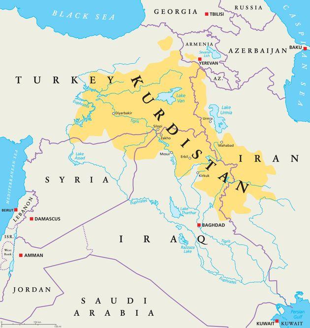 クルド人の居住地域
