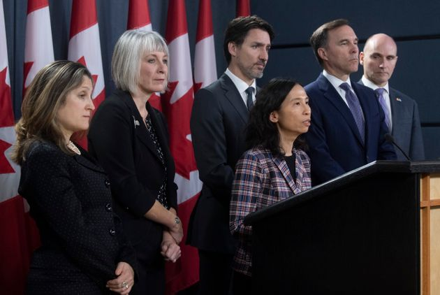 Chief Medical Officer Theresa Tam speaks during a news conference on the coronavirus situation, in Ottawa...