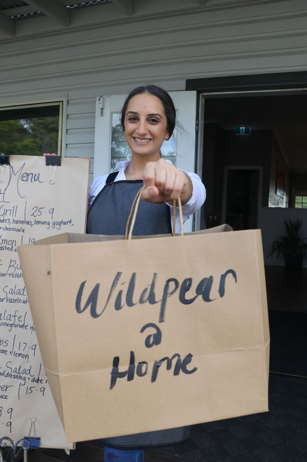 MasterChef Australia 2019 winner Larissa Takchi at her family's cafe Wild Pear in Dural,