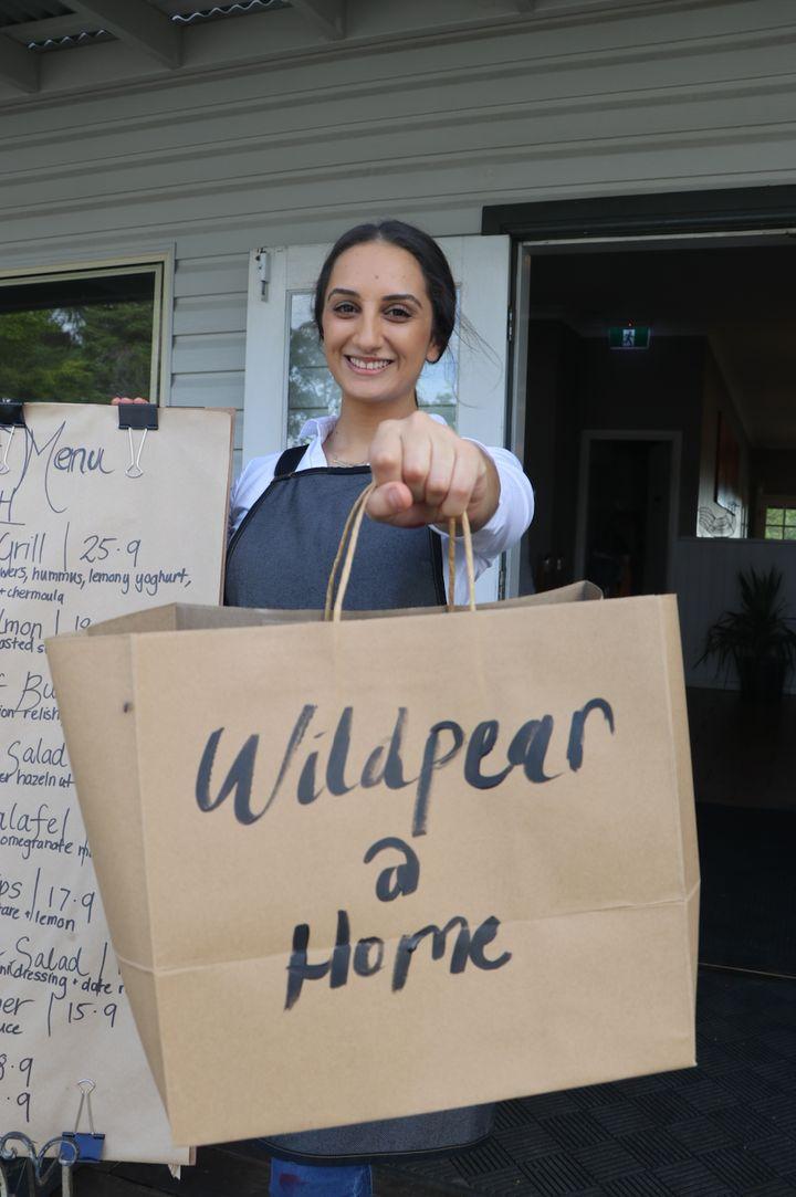 MasterChef Australia 2019 winner Larissa Takchi at her family's cafe Wild Pear in Dural, Sydney.