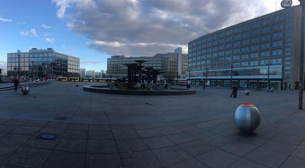 普段は若者でにぎわうベルリンAlexanderplatz