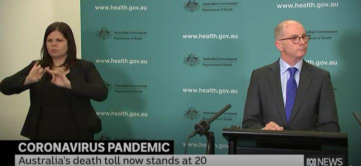 Australia's Deputy Chief Medical Officer Paul Kelly