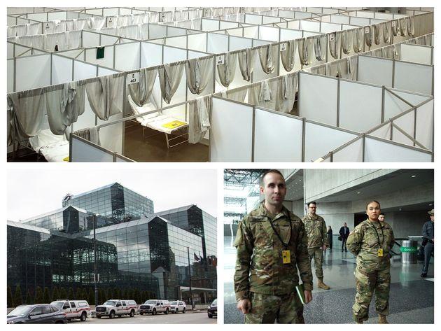 1,000床の臨時病院が開設されたジャビッツセンター