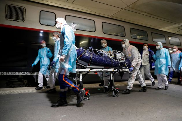 Ce mercredi 1er avril, 36 patients vont être évacués en TGV médicalisé...
