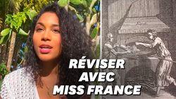 Pendant le confinement, Miss France fait des exposés