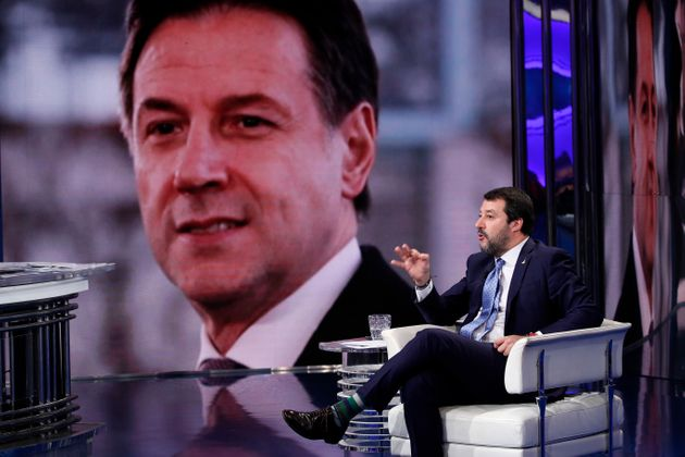 Matteo Salvini, Deputy Prime Minister of Italy and Minister of the Interior, guest of the broadcast Porta...