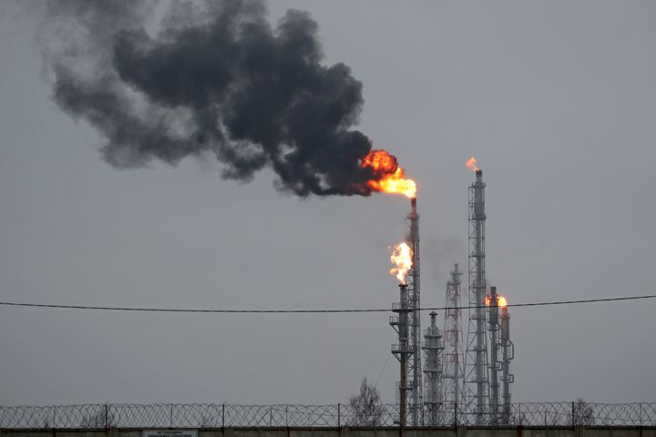 An oil refinery in Belarus.
