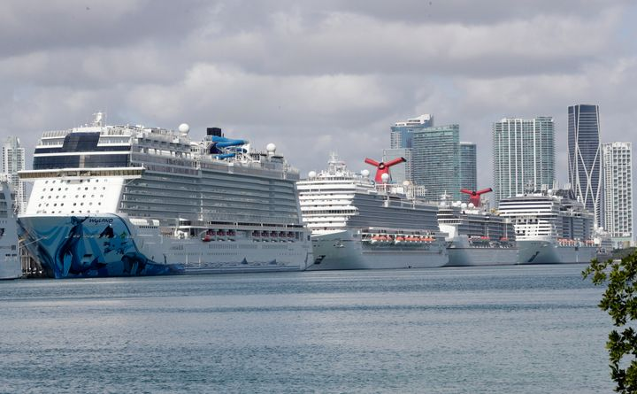 "The U.S. Coast Guard said it has directed all cruise ships to treat any sick passengers and crew members on board ""inde"