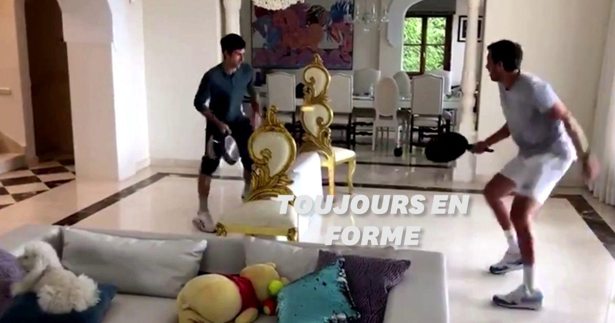 Comme Novak Djokovic, ces sportifs trompent le confinement pour garder la forme