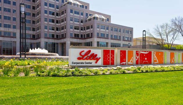 In this stock photo, the exterior of the world headquarters of Eli Lilly and Company is seen in Indianapolis,...