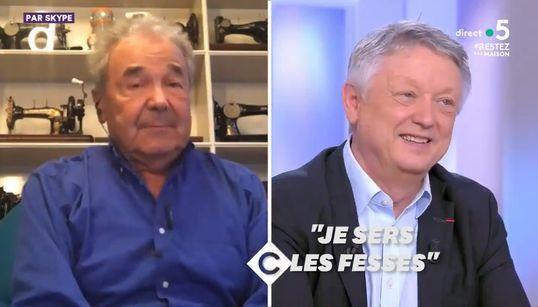 """Pierre Perret """"serre les fesses"""" face au"""
