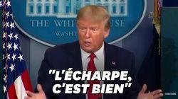 """""""Vous n'avez qu'à utiliser une écharpe"""", préconise Trump face au manque de"""