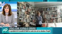 Esperanza Aguirre, tras su ingreso por coronavirus: