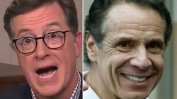 Stephen Colbert Gets TMI About Andrew Cuomo's Possibly Pierced