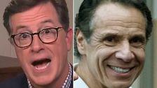 Stephen Colbert Παίρνει TMI Για Andrew Cuomo, Ενδεχομένως, Τρυπημένα Θηλές