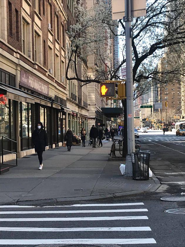 ニューヨーク・マンハッタンの様子=2020年3月24日