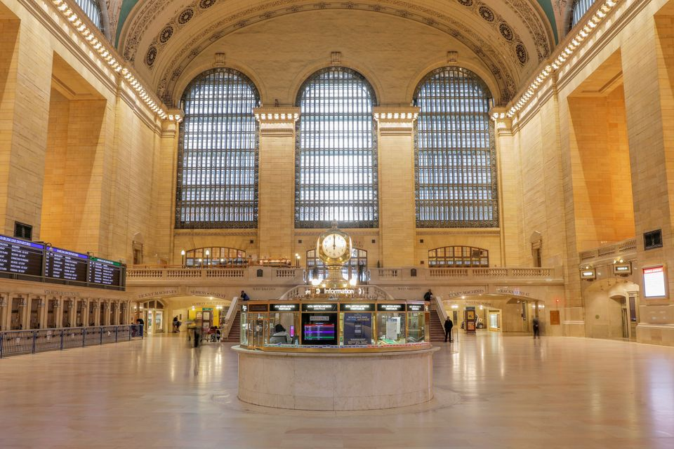 A Grand Central, em Nova York, que recebia diariamente 750 mil