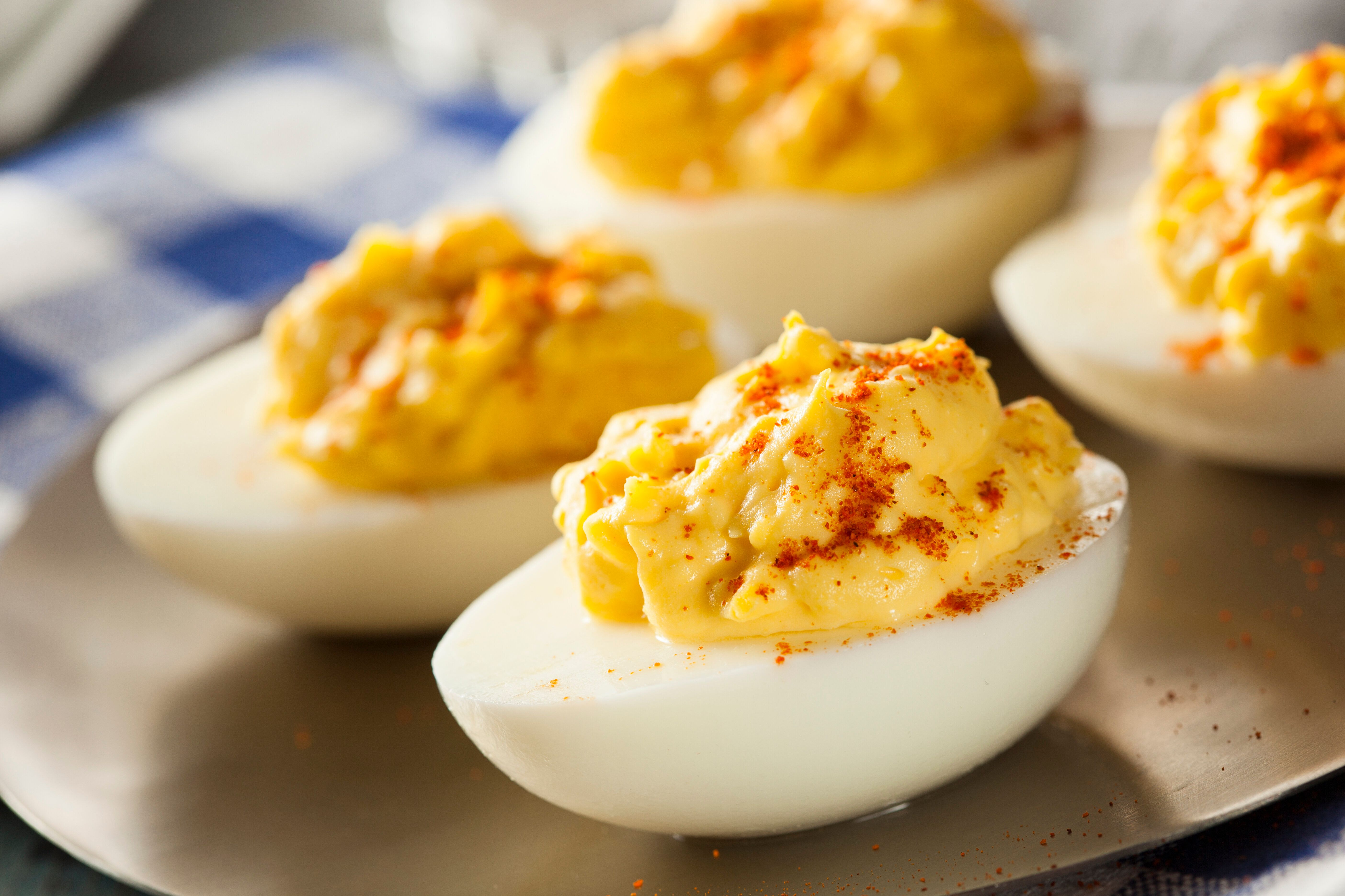 Don't let your deviled eggs sit out too long before you plan to serve them.