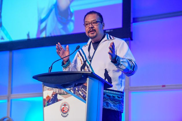 AFN regional chief Kevin Hart speaks at a housing conference in Toronto in