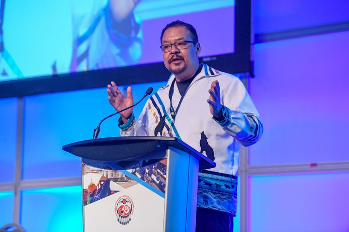AFN regional chief Kevin Hart speaks at a housing conference in Toronto in March.