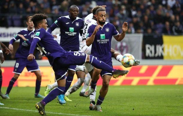 Lors du match de championnat belge Anderlecht-FC Bruges, à Bruxelles, le 3 novembre