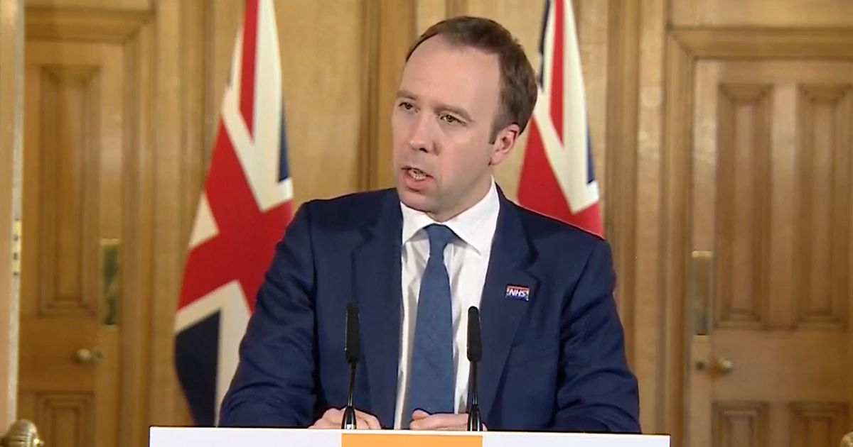 Health Secretary Writes Off £13.4bn Of NHS Debt To Help Coronavirus Response