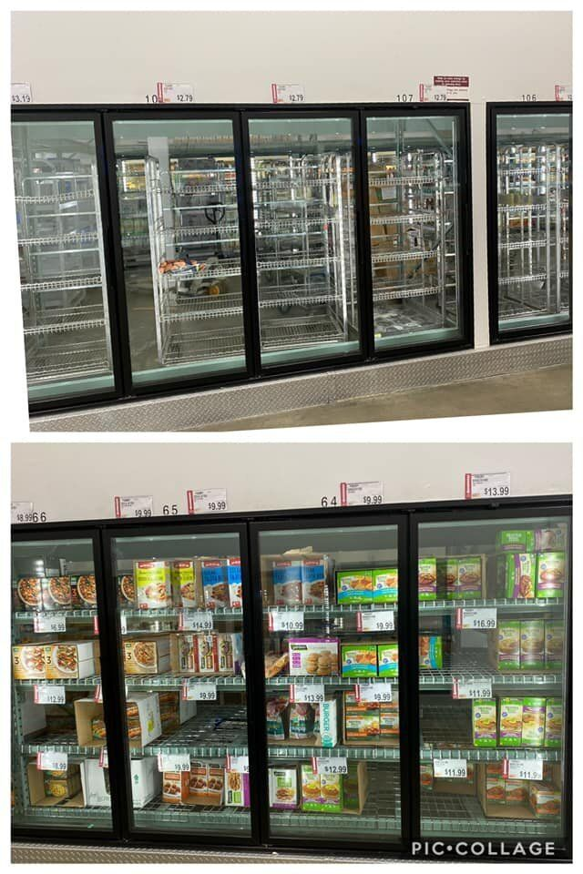The frozen section at Robin Brabson-Christopher's local market was well-stocked with faux meat.